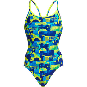 Funkita Diamond Back One Piece Badpak Dames, magnum pi